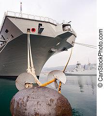 Portaerei Cavour - TRIESTE, ITALY - NOVEMBER, 02: View of...