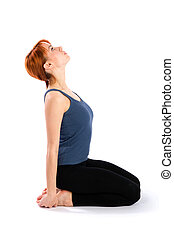 Slim Young Woman doing Fitness Exercise