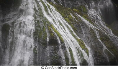 Panther Creek Waterfalls Washington - Zooming Out Movie of...