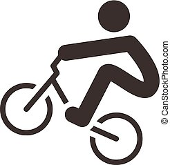 Cycling BMX icon - Summer sports icons - cycling BMX icon