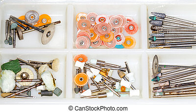 Dental tools - Photo of dental tools on isolated white...