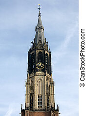 Church Spire - The spire of the New Church Nieuwe Kerk,...