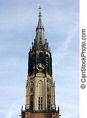 Church Spire - The spire of the New Church (Nieuwe Kerk),...
