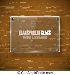 Glass framework and wood texture - Glass framework banner...