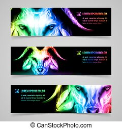 Goat fire banners