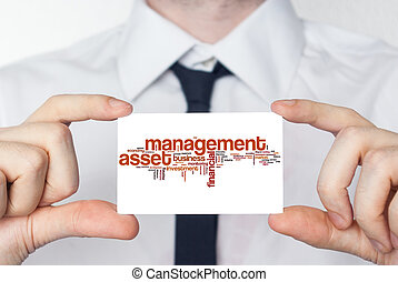 Management asset. Businessman in white shirt with a black...