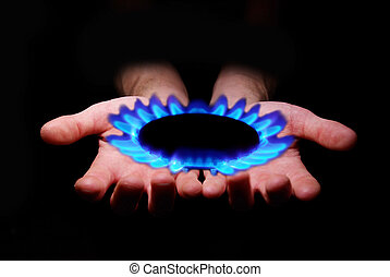 gas in hands