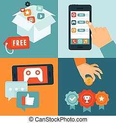 Vector freemium business model - Vector infographic...