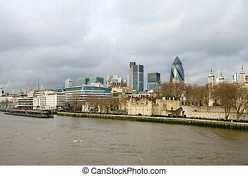 River Thames - A view of the River Thames and city...