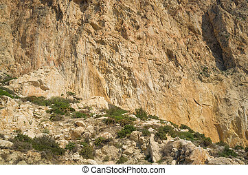 Rock face - Full frame take of a limestone rock face