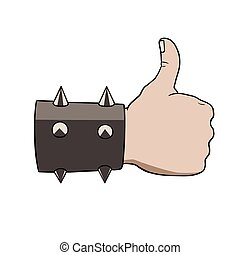 brutal thumbs up - This is an illustration of brutal thumbs...