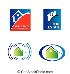 Real estate and construction icons
