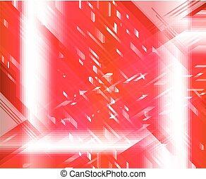 Red light techno vector background