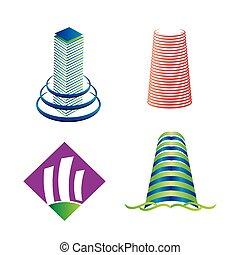 Tower logo set