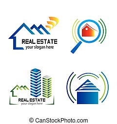 Collection of vector logos construction and home improvemen