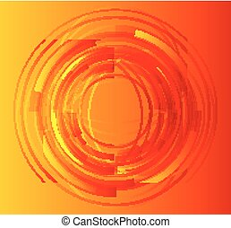 Orange abstract circle background vector
