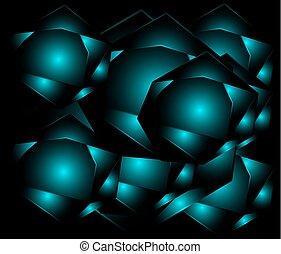 Dark blue dots light Geometric