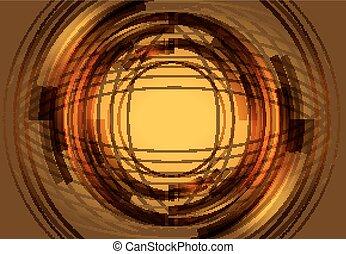 Golden rendered fractal design abstract background
