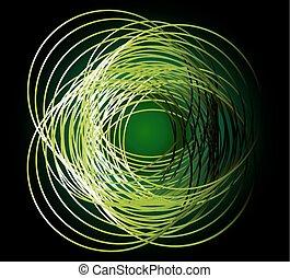 Dark Round Background green