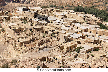 Dana traditional village in Jordan - Dana village, in the...