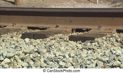Railroad Tracks CU - CU of railroad track