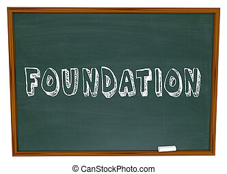 Foundation Word Chalkboard Learn Business Principles Start...