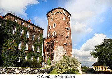 Medieval Defence Tower in Wawel Royal Castle - Medieval...