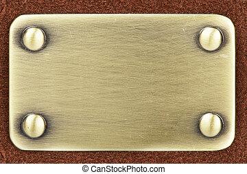 Panel of metal brushed