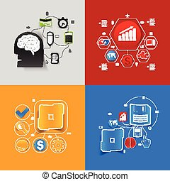 business sticker infographic