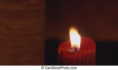 Red Candle Blown Out - Red pillar candle is blown out