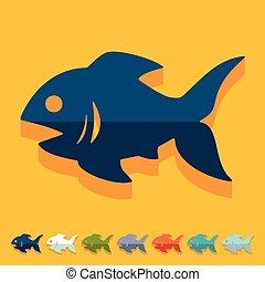 平ら, design:, fish,