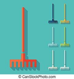 Flat design: rake
