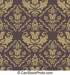 Floral Seamless Vector Pattern. Orient Abstract Background -...
