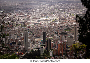 Landscape of the buildings of the downtown in Bogota,...