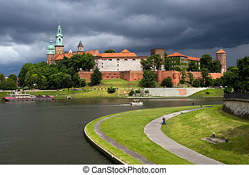 The Wawel Royal Castle and Vistula River - The Wawel Royal...