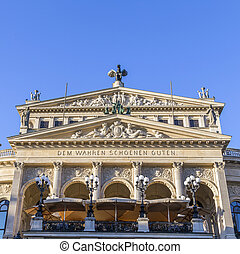 Alte Oper in Frankfurt - Alte Oper Old Opera House in...