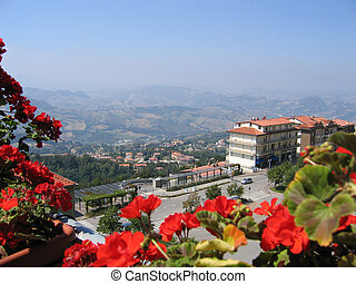 view to Republic of San Marino - Republic San Marino top...