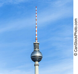 The Fernsehturm (TV Tower) in Berlin, Germany - The...