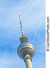 The Fernsehturm TV Tower in Berlin, Germany