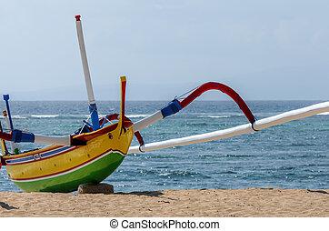 fisherman boat in Bali