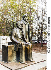Marx-Engels-Monument in Germany Berlin -...
