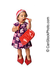 Baby Girl Fashion - Funny fashion shoot with cute one year...