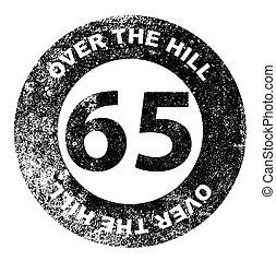 Over the Hill 65 Stamp