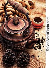 copper old tea-pot