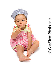 Cute Baby Girl Sitting