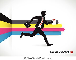 Business man on a cmyk background