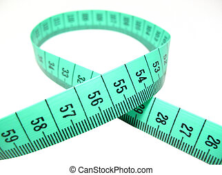 Measure tape - Green measure tape on white background