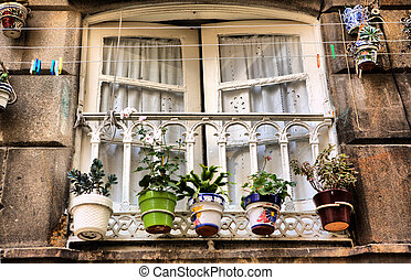 Old Vigo window, Spain - Typical window of old Vigo...
