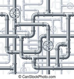 Pipes on white - Seamless pipes background. Eps8. CMYK....