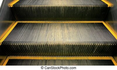 KOH SAMUI, THAILAND 19 JULY 2014. Moving escalator stairs in...